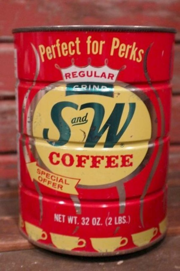 画像1: dp-210301-65 S and W COFFEE / Vintage Tin Can