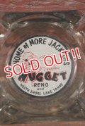 dp-210401-22 Home of More Jackpots NUGGET / Vintage Glass Ashtray