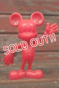 ct-210301-61 Mickey Mouse / MARX 1970's Plastic Figure (Red)