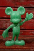 ct-210301-60 Mickey Mouse / MARX 1970's Plastic Figure (Green)
