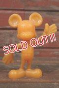ct-210301-62 Mickey Mouse / MARX 1970's Plastic Figure (Orange)