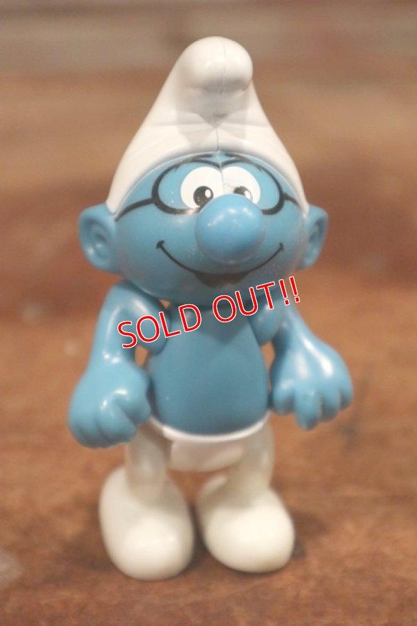 画像1: ct-201101-56 Brainy Smurf / McDonald's 2002 Plastic Figure