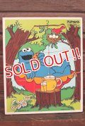 ct-210201-33 Cookie Monster / Playskool 1970's Wood Frame Tray Puzzle