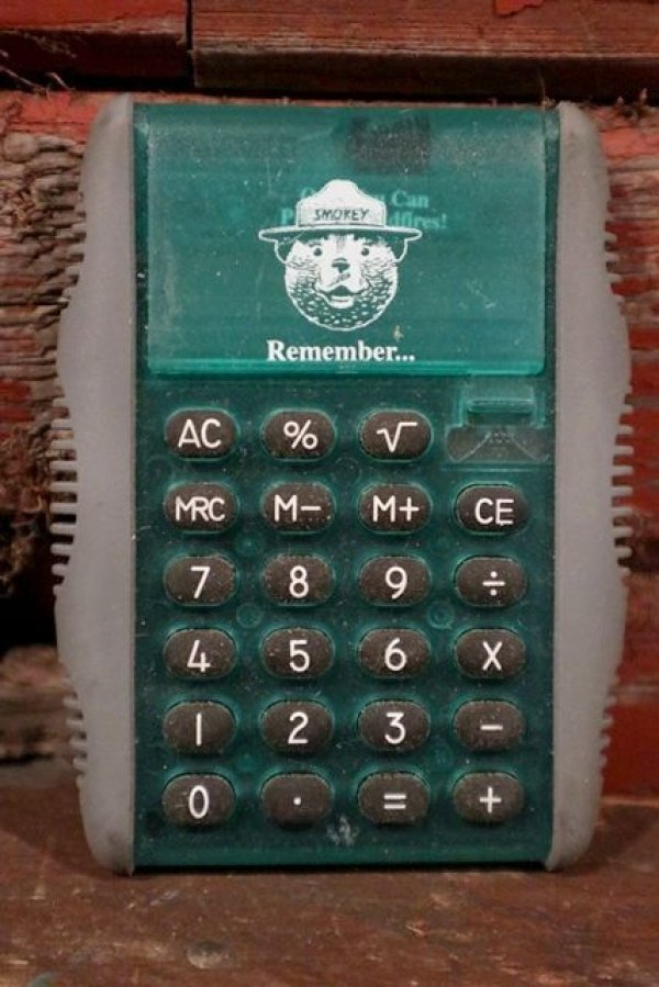 画像1: ct-210401-39 Smokey Bear / 1990's Calculator