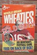 "ad-130507-01 General Mills WHEATIES / 1991 San Francisco 49ers ""Jo Montana Jr."" Cereal Box"