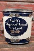 dp-210401-101 Swift's Silverleaf Brand Pure Lard / Vintage Tin Can
