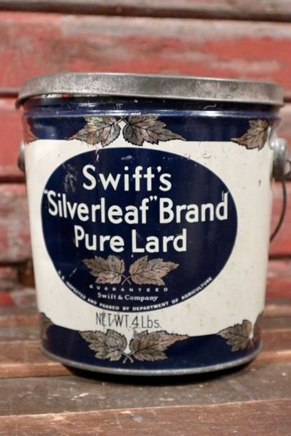 画像1: dp-210401-101 Swift's Silverleaf Brand Pure Lard / Vintage Tin Can