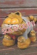 "ct-210501-15 Garfield / DAKIN 1980's Plush Doll ""Slipper"""