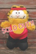 "ct-210501-22 Garfield / DAKIN 1980's Plush Doll ""Aerobics"""