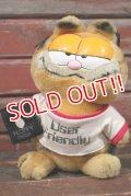 """ct-210501-18 Garfield / DAKIN 1980's Plush Doll """"Floppy Disk"""""""