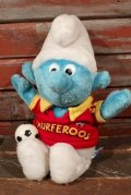 "ct-210501-33 Smurf / 1980's Plush Doll ""Soccer"""