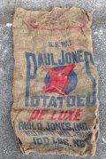 dp-210401-66 PAUL JONES POTATOES / Vintage Burlap Bag