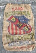 dp-210401-66 CALIFORNIA DHS POTATOES / Vintage Burlap Bag