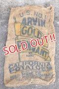 dp-210401-66 ARVIN GOLD PENNANT / Vintage Burlap Bag