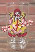 """gs-210501-07 McDonald's / 1970's Collector Series """"Ronald McDonald"""" Glass"""