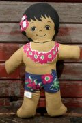 ct-210401-31 C&H Sugar / 1970's Hawaiian Boy Pillow Doll (G)