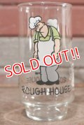 "ct-210501-62 Popeye / Coca Cola 1975 Glass ""Rough House"""