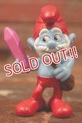 "ct-210501-100 Smurf / McDonald's 2013 Meal Toy ""Papa Smurf"""