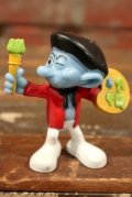 """ct-210501-100 Smurf / McDonald's 2011 Meal Toy """"Painter"""""""