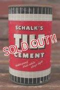 dp-210501-22 SCHALK'S TILE CEMENT / Vintage Tin Can