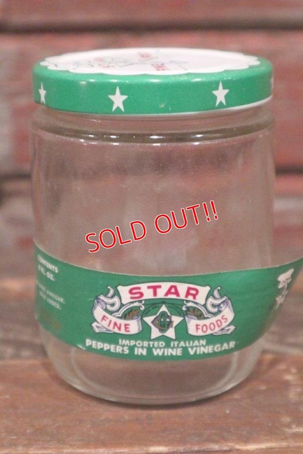 画像2: dp-210601-35 STAR FINE FOODS / Vintage Glass Bottle