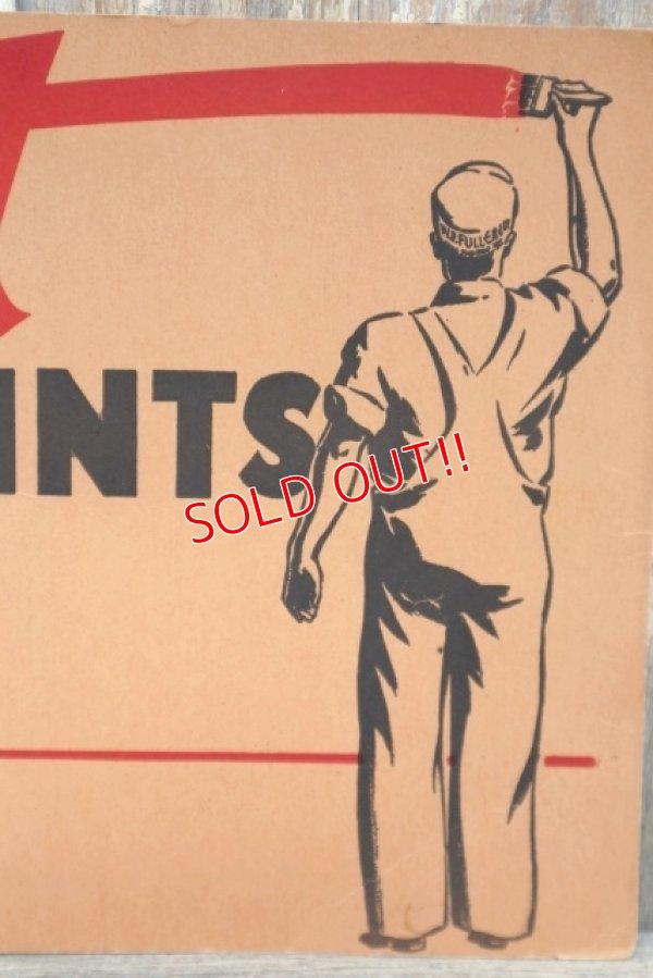 """画像2: dp-210701-49 FULLER PAINT """"WET"""" / Vintage Paper Sign"""
