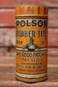 dp-210701-26 POLSON RUBBER-TIRE / 1940's Repair Kit Can