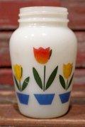 dp-210801-13 【JUNK】Fire-King / Tulip Salt and Pepper Shaker