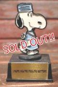 "ct-210801-37 Snoopy / AVIVA 1970's Trophy ""I HOPE YOU'RE FEELING BETTER!"""