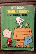 ct-210701-88 NOT AGAIN, CHARLIE BROWN 1980's FUN COLORLING BOOK