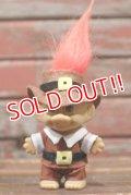 ct-210701-58 Trolls / RUSS Brown Cloth & Hat Orange Hair Doll