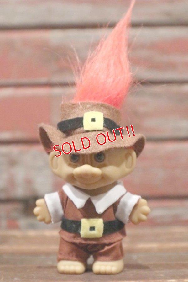画像1: ct-210701-58 Trolls / RUSS Brown Cloth & Hat Orange Hair Doll