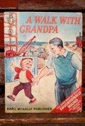 "ct-210701-09 ELF BOOK / 1950's ""A WALK WITH GRANDPA"" Picture Book"