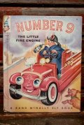 """bk-140610-17 ELF BOOK / 1950's """"NUMBER 9 THE LITTLE FIRE ENGINE"""" Picture Book"""