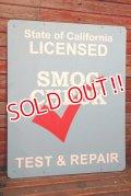 dp-211001-09 State of California LICENSED SMOG CHECK TEST & REPAIR Sign